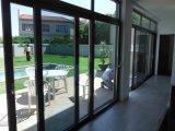 UPVC Neigung-und Drehung-Doppelt-geöffnetes Glasfenster mit Vorhängen