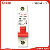 Disyuntor miniatura Knb1-63-2014 3ka /6ka, 1-5A, 6-25, 32-63 1P 1p+N, 3p 3+N, 4p