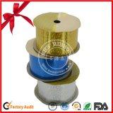 Le polyester a estampé le roulis simple de bande de face avec des lignes d'or pour la boîte-cadeau