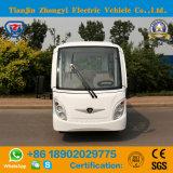 Zhongyi는 세륨으로 8개의 시트 배터리 전원을 사용하는 관광 사업 버스를 둘러싸았다
