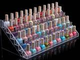 Présentoirs acryliques clairs de vernis à ongles de partie supérieure du comptoir de plexiglass