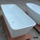Kingkonree Surface solide Tube de bain en pierre blanche