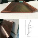 Installation facile Moulure plastique/plinthes en PVC pour les revêtements de sol