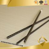 PC de 7mm cable de acero para hormigón pretensado