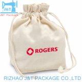 3月の印刷を用いる卸し売り熱い販売カラー綿の綿モスリンのドローストリング袋