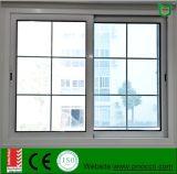Doble vidrio de alta calidad de la ventana corrediza de aluminio con grill