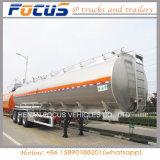 La fabrication de 45m3 en aluminium semi-remorque-citerne de carburant pour la vente