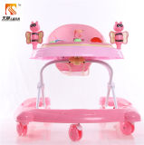 Form rosafarbener Baby-Wanderer mit Schwenker-Rädern