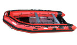 Aqualand 17feet 반강체 팽창식 구조 모터 알루미늄 Foldable 갑판 고무 배 (aql500)