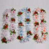 Poliéster Popular personalizadas de flores hawaianas Lei para Holdiay