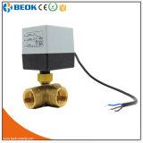 Válvula de bola de latón de 220V Válvula de motor eléctrico