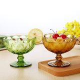 方法多色刷りの救助のガラスアイスクリームボールの彫版のゴブレットのガラスサラダボール