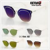 Óculos de sol de vinda novos da forma com CE liso FDA Km15213 da lente