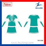 Uniformes del Cheerleading de la sublimación de la ropa de deportes de Healong para las muchachas