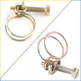 El Tornillo Cable ajustable de doble tubo Abrazaderas de manguera Clip