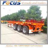 Los vehículos de enfocar el esqueleto semi remolque camión de carga de contenedores