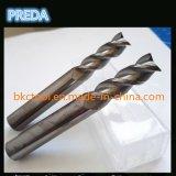 Face de espelho dos moinhos de extremidade das flautas do carboneto 2/3 de Tungsen para o alumínio