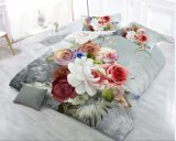 Reeks van de Dekking van het Dekbed Bedsheet van het huis de Textiel 3D