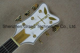 주문 상감세공 디자인 백색 Gretsc 송골매 6120 반 빈 재즈 일렉트릭 기타 (GT-10)