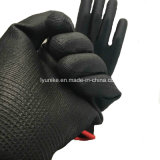 13указатели трикотажные черный нейлон PU покрытием перчатки работы защитные перчатки En388