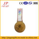 Medaglia del metallo del ricordo della corsa 2017 e distintivo correnti di sport