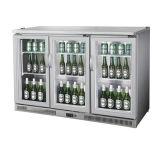 Двойные двери пивной бар охладитель с черной полосой мини холодильник