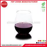 Vidros de vinho vermelho plásticos Unbreakable por atacado de Tritan no ovo dado forma