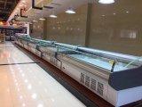 슈퍼마켓 냉각 장비 열려있는 고기 냉장고 진열장