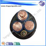 Cabo blindado da corrente eléctrica da bainha impermeável do PVC da isolação de XLPE