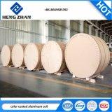 PE/PVDF/PEHD/Feve marbre couleur du grain de la bobine en aluminium à revêtement/bande de matériau de construction en alliage en aluminium