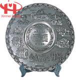 De antieke Zilveren Plaat van het Vaatwerk van de Decoratie