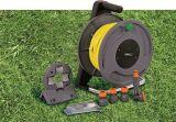 高品質2の車輪の管状の鉄骨フレームの庭水ホースの巻き枠のカート