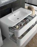 Дешевый шкаф PVC типа Америка с керамической тщетой ванной комнаты тазика
