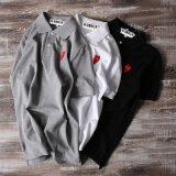 中心の刺繍の綿ワイシャツ