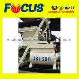 mélangeur concret d'arbre jumel électrique de 75-90m3/H Js1500 pour la centrale de traitement en lots