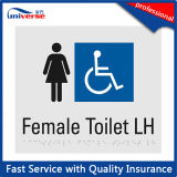 ABS het Blauwe Visuele Unisex-Toilet & Teken het van uitstekende kwaliteit van de Deur van de Douche