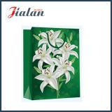 Personnaliser 4c imprimé Fleur de Lys Transporteur commercial sac de papier cadeau