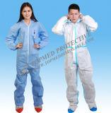 Костюмы Coverall Spp SMS Mf, устранимая Nonwoven защитная одежда