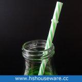 300ml rimuovono la bottiglia bevente di vetro con la paglia dei pp