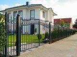 Décoration de luxe porte en fer forgé noir/porte principale de la Chambre à revêtement poudré
