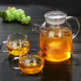 Chaleira de vidro Definir Conjunto de oferta promocional de chá de vidro borossilicato
