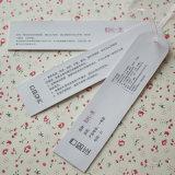 Kundenspezifischer heißer Folien-Firmenzeichen-Fantasie-Papiergroßhandelshangtag für Kleidung