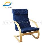 Cadeira de madeira relaxante durável com tecido de algodão 100%