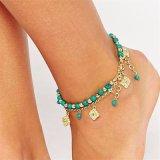 Het blauwe Dubbel van de Juwelen van de Voet van Bloemen parelt Turks Sokje