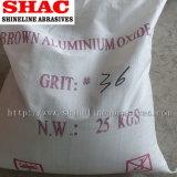 O óxido de alumínio castanho abrasivos 4#-220# Fepa grau