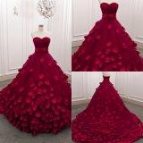 Красного Вина милая шарик платье тюль свадебные платья