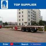 Het Voertuig van de titaan - Flatbed Oplegger van de Container van 3 As voor Verkoop