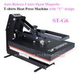 St G6 자동적인 자동 방출 또는 자동차 열려있는 자석 U 디자인 t-셔츠 열전달 압박 기계