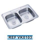 Dispersore del bacino della lavata della cucina dell'acciaio inossidabile singolo (VK0102)