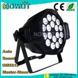 18 uds. de 10W RGBW 4en1 en el interior de la luz LED PAR lavado
